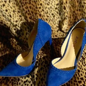 Just Fab Monika D'orsey Faux Suede Blue Pump